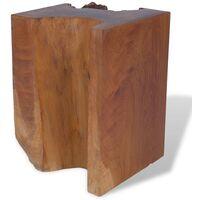 Stool Solid Teak Wood - Brown