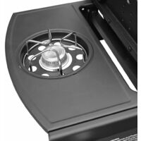 Gas Barbecue Grill 4+1 Cooking Zone Black and Silver - Silver