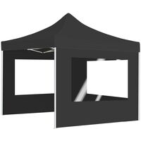 Professional Folding Party Tent with Walls Aluminium 3x3 m Anthracite - Anthracite
