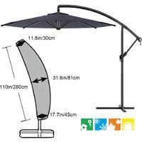 Outdoor Umbrella Cover Patio Umbrella Cover for Cantilever Parasol Outdoor Umbrellas Cover Water Resistant Fabric black, 280cm(30*81*45cm)