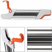 Hand mini mini grinder head file Chainsaw Sharpener 2 in 1 Easy File Sharpener, orange
