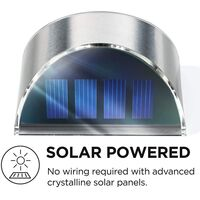 Security Solar Wall Lights - Outdoor Solar Fence Post and Step Lights, Weatherproof with No Wiring Required, Stainless Steel (2-Pack)