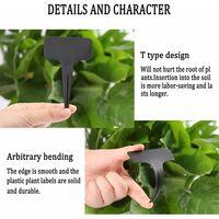 "100 pcs Plastic Plant Labels Waterproof Nursery T-Type Garden Tags Black Plant Markers 2.36"" x 3.94"""