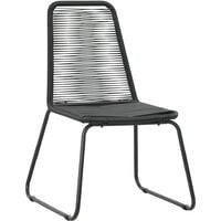 Outdoor Chairs 2 pcs Poly Rattan Black - Black
