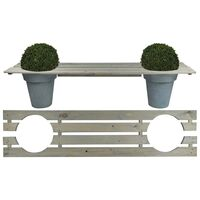 Esschert Design Planter Bench 180 cm NG71 - Grey