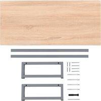 Bathroom Wall Shelf for Basin Oak 90x40x16.3 cm - Brown