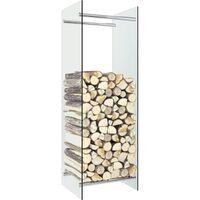 Firewood Rack Transparent 40x35x120 cm Glass - Transparent