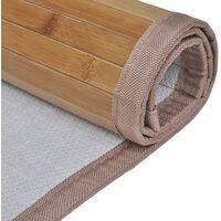 Bamboo Bath Mat 60 x 90 cm Brown - Brown