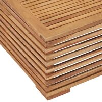 Garden Table 69.5x69.5x31 cm Solid Teak Wood - Brown