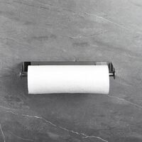 Kitchen roll holder without drilling / wall mounting, kitchen roll holder wall mounting paper roll holder storage organizer 304 stainless steel brushed, 28cm