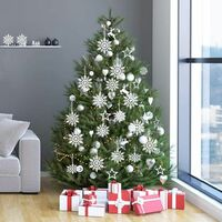 24 x snowflakes Christmas decorations for Christmas tree glitter white Christmas tree decorations
