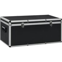 Storage Cases 3 pcs Black Aluminium - Black