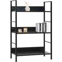 3-Layer Book Shelf Black 60x27.6x90.5 cm Chipboard - Black