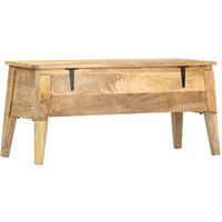 Storage Box 99x35x48 cm Solid Mango Wood - Brown