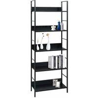 5-Layer Book Shelf Black 60x27.6x158.5 cm Chipboard - Black