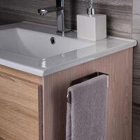 Taozun Hand Towel Bar / Hand Towel Ring - Self Adhesive Stick On Wall Bathroom Towel Bar, Brushed SUS 304 Stainless Steel