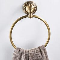 Antique Brass Towel Ring Retro Towel Rack Hardware Pendant Towel Hanger Ring For Bathroom Rustproof