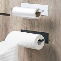 Kitchen roll holder Roll holder Wall roll holder for kitchen paper Without drilling, aluminum, matte finish, paper roll holder Kitchen roll holder