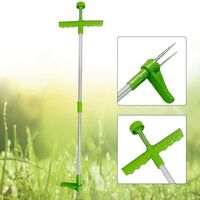 Weed Extractor, Stand Up Manual Weed Killer Weed Extractor Stainless Steel Hand Tool with High Strength 3 Prongs