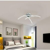 LED Ceiling Light, Modern Design Curved Ceiling Chandelier Lamp with 3 Curved Lights For Living Room Bedroom Dining Room 18W (Cool White)