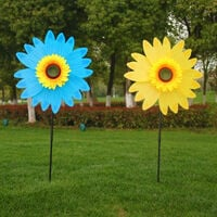 Large Sunflower Wind Spinners for Yard and Garden, Metal Sunflower Windmill for Balcony Pinwheels Patio Outdoor Decor, Garden Decoration Garden Art Artificial Flowers