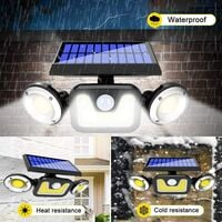 Garden Lights Solar Powered Waterproof - 360° Rotatable Three-Head Solar Outdoor Light - for Parking lot, exit, Driveway, Patio, etc. Lightning, Snow and High Temperature Protection Solar Lights