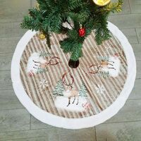 Plush Christmas Tree Skirt - 99cm - Decoration for Home or Christmas Party