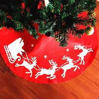 Christmas tree rug with Santa's reindeer for Christmas party decoration, 100 cm