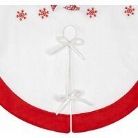 """Christmas Tree Skirt, 35 """"/ 90cm, Christmas Tree Rug, Christmas Tree Foot Cover (White), Christmas Tree Decoration"""