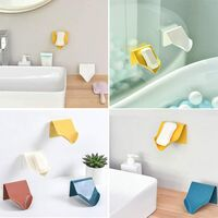 Soap Dish for Kitchen Bathroom Shower, Soap Box Soap Holder Self-draining Plastic Soap Holder Wall Mounted (Red Brown * 1)