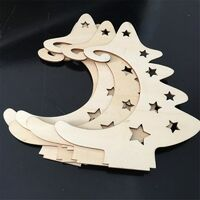 Christmas Decoration Wood Slices With Stand Christmas Wooden Tree Star Crafts For DIY Christmas Ornaments Kids Gifts