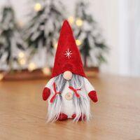 Christmas Decorations, Swedish Christmas Santa Claus GNOME Faceless Christmas Doll, Santa Claus Christmas Ornaments Home Bedroom Decoration (Red)