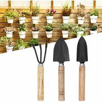 Garden Shovel Gardening and Shovel Tool Set 3Pcs Mini Plant Gardening Tools Set Shovel Claw Rake Shovel Flowers Planting Tools Repotting