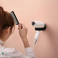 2 Pieces Hair Dryer Wall Bracket, Hair Dryer Holder, Hair Care Tool Holder Wall Bracket, Hair Dryer Holders With Suction Cup, For Bathroom And Toilet