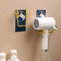 Toilet Hair Dryer Rack Free Punch Wall Hanging Hair Dryer Shelf Bathroom Rack Iron Hair Dryer Storage Rack Toot Bear Round