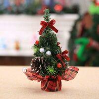 Christmas Tree Mini Artificial Christmas Tree Miniature Decoration Table Christmas Ornaments (Golden, 20CM)