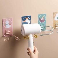 Toilet Hair Dryer Rack Free Punch Wall Hanging Hair Dryer Shelf Bathroom Rack Iron Hair Dryer Storage Rack Round Lazy Tree