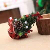Christmas Tree Mini Artificial Christmas Tree Miniature Decoration Table Christmas Ornaments (Red, 20CM)