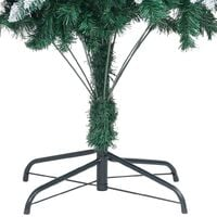 Artificial Christmas Tree with Pine Cones and White Snow 210 cm - Green
