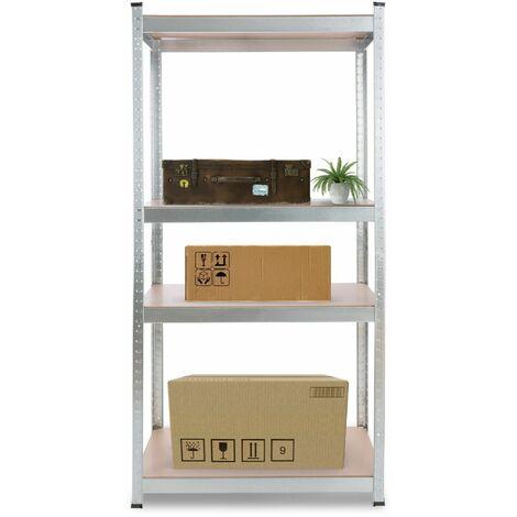 AREBOS Heavy duty Shelf Garage Racking Shelf 4 Tier Layer Shelf Storage