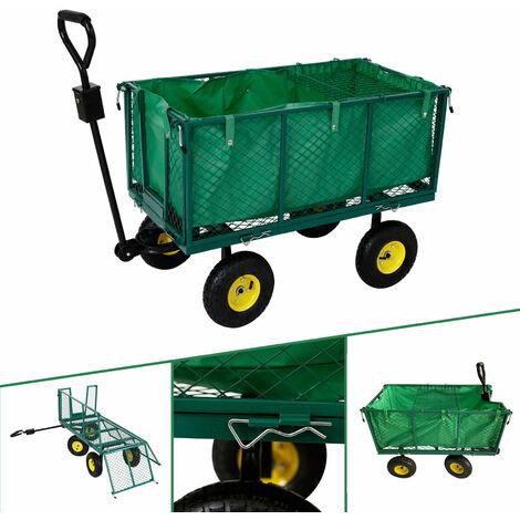AREBOS Transport Trolley Garden Trolley Tool Trolley Hand Trolley 550 kg - green
