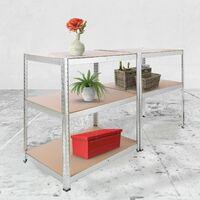 AREBOS Heavy duty Shelf Garage Racking Shelf 5 Tier Layer Shelf Storage