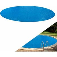 AREBOS Solar Pool Cover Heating cover blue round 12ft 400 micron - Blue