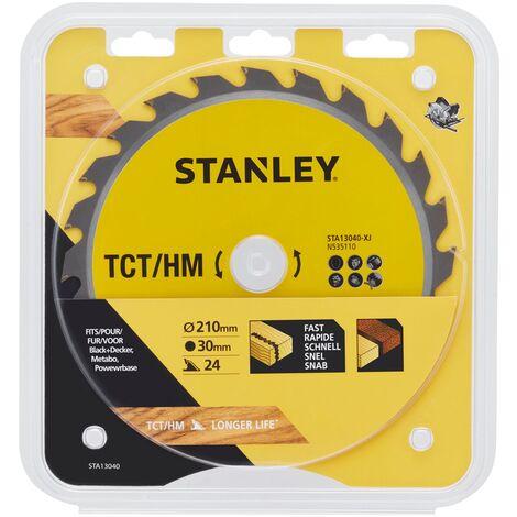 Stanley hoja de sierra circular - 'TCT / HM' 210 mm