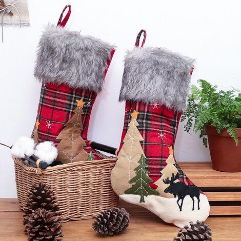 Decorazioni Natalizie Caramelle.Sacchetto Regalo Con Decorazioni Natalizie Sacchetto Di Caramelle Calza Natalizia Con Motivo Ad Albero Di Natale