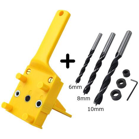Palmare posizionamento dima falegnameria per trapano 6/8 / 10mm   due tipi, un singolo manicotto localizzatore + seminatrice 7 - due tipi, un singolo manicotto localizzatore + seminatrice 7