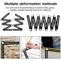 12 volte, righello pieghevole in lega di alluminio, righello di misurazione multi-angolo