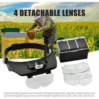 Apicoltura strumenti, apicoltura spostamento insetti specchio testa allargata, senza nave batteria