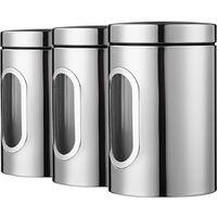 3 montato, serbatoio in acciaio inox, lattine sigillate, tre pezzi lattine di te e caffe caramelle cereali, argento