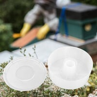 2L Beehive Water Feeder Round Bee Feeder Ciotola per bere Strumento portatile per apicoltore di api selvatiche per apicoltore Forniture Strumento per alveare
